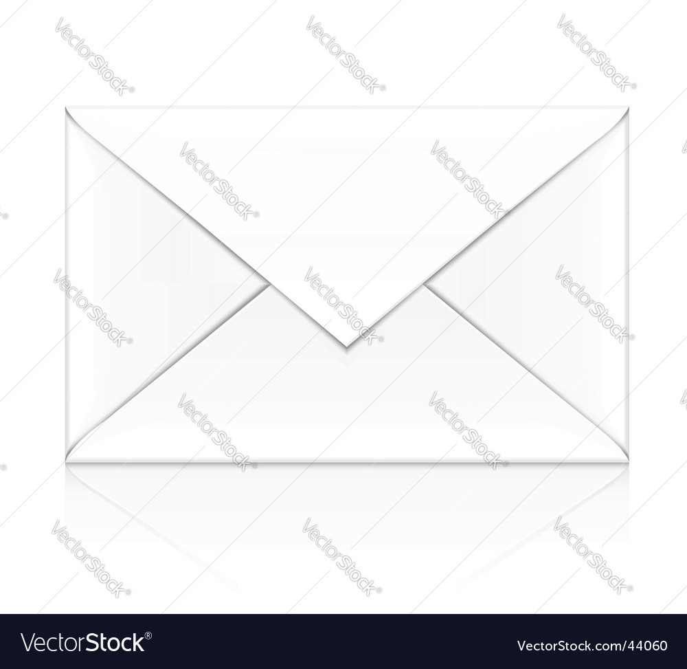 White envelope vector | Price: 1 Credit (USD $1)