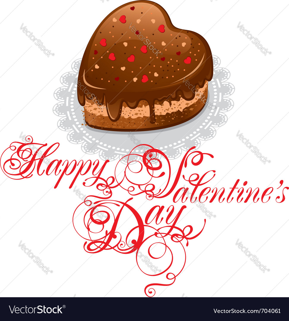 Background to valentines day with chocolate cake i vector | Price: 3 Credit (USD $3)