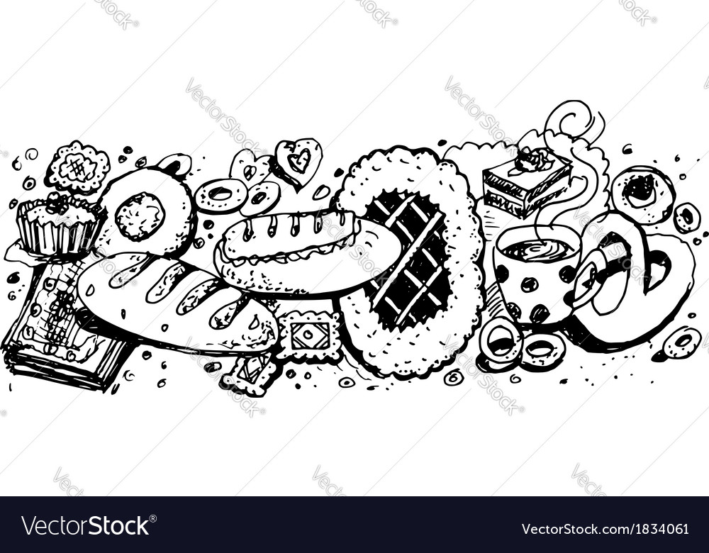 Baking and flour products vector | Price: 1 Credit (USD $1)