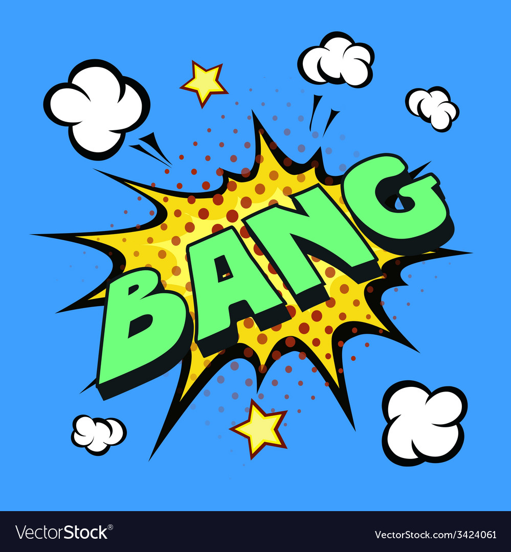 Bang comic explosion vector | Price: 1 Credit (USD $1)