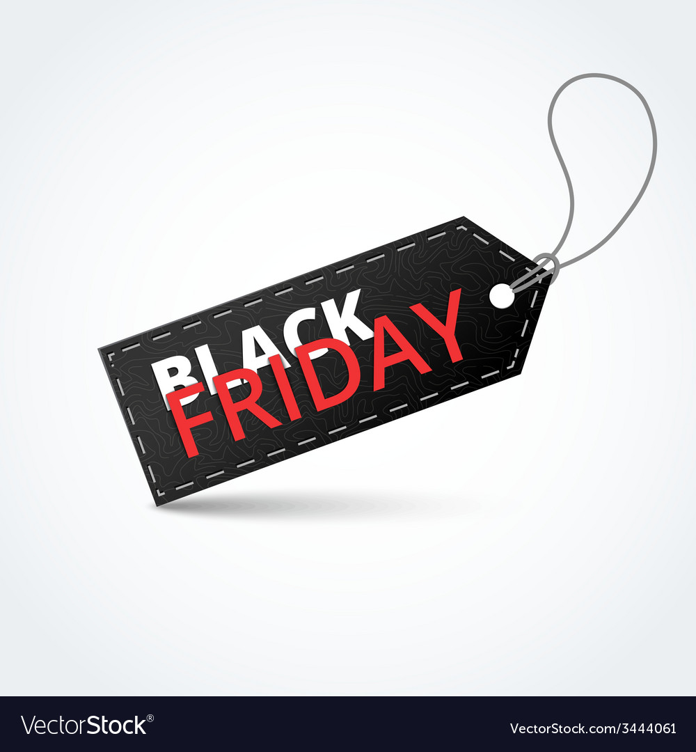 Black textured badge about black friday sale vector | Price: 1 Credit (USD $1)