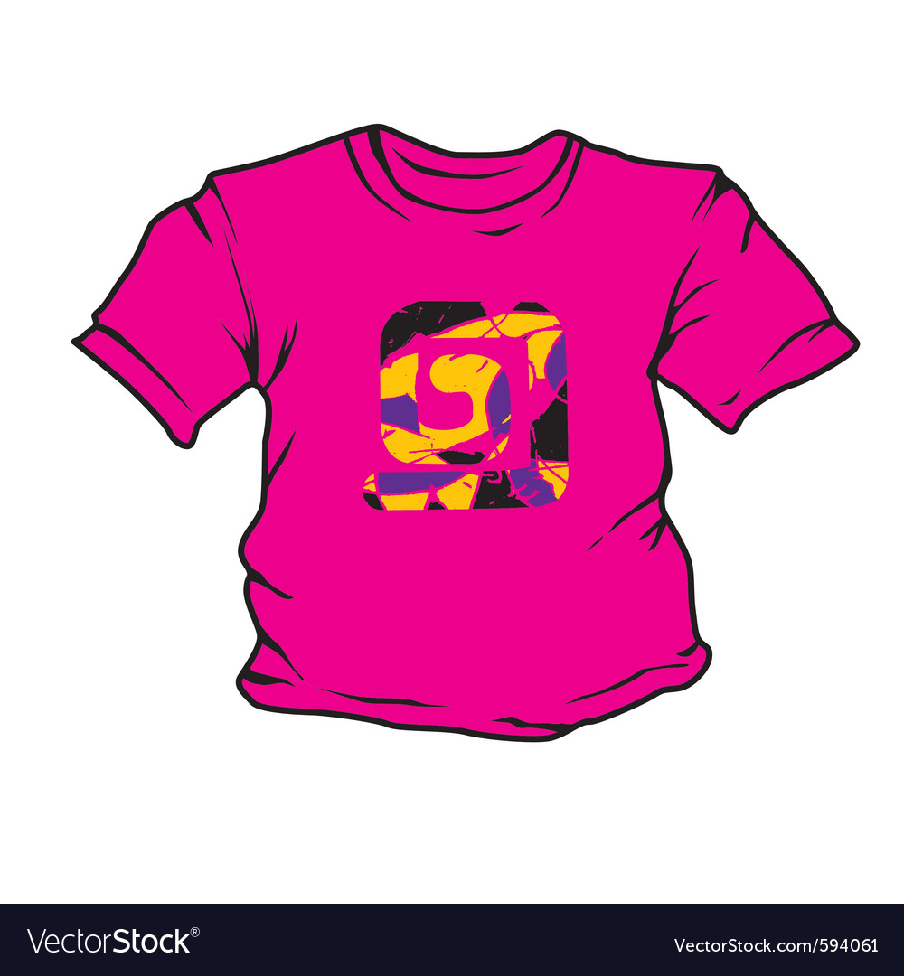 Cartoon t-shirt vector | Price: 1 Credit (USD $1)