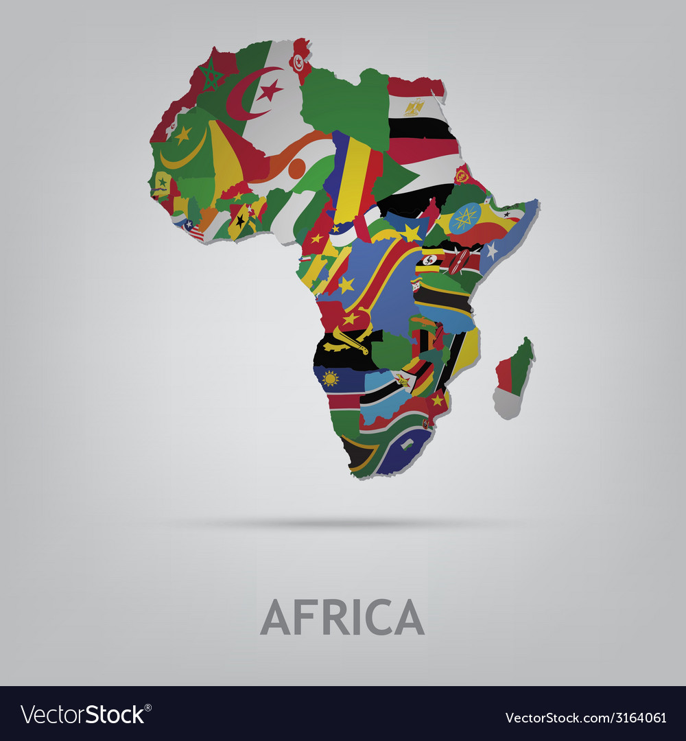 Continet africa vector | Price: 1 Credit (USD $1)