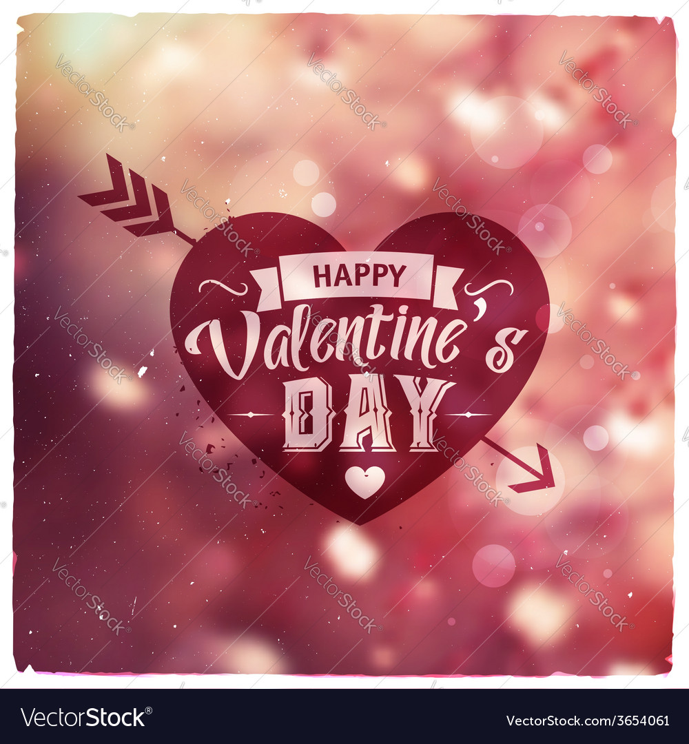 Happy valentines day creative graphic message vector | Price: 1 Credit (USD $1)