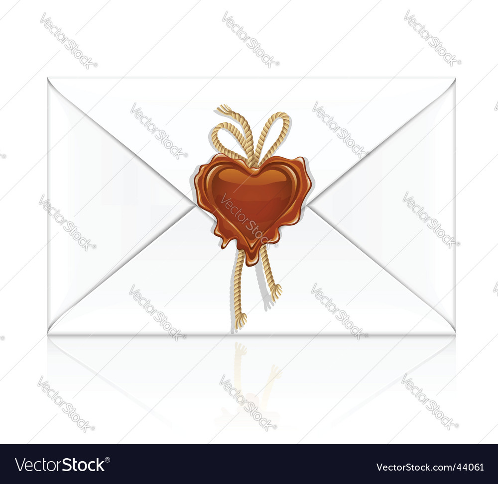 Lover letter white envelope sealed vector | Price: 1 Credit (USD $1)