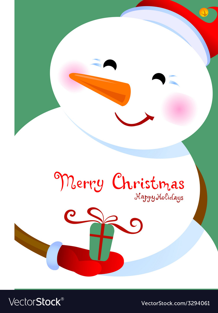 Merry christmas greetings vector | Price: 1 Credit (USD $1)