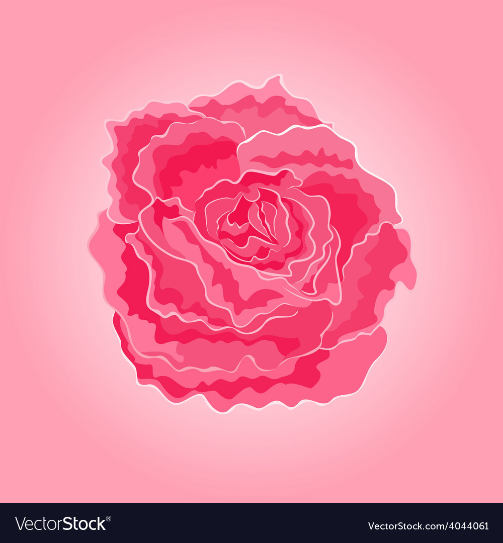 Roses pink simple symbol of love vector | Price: 1 Credit (USD $1)