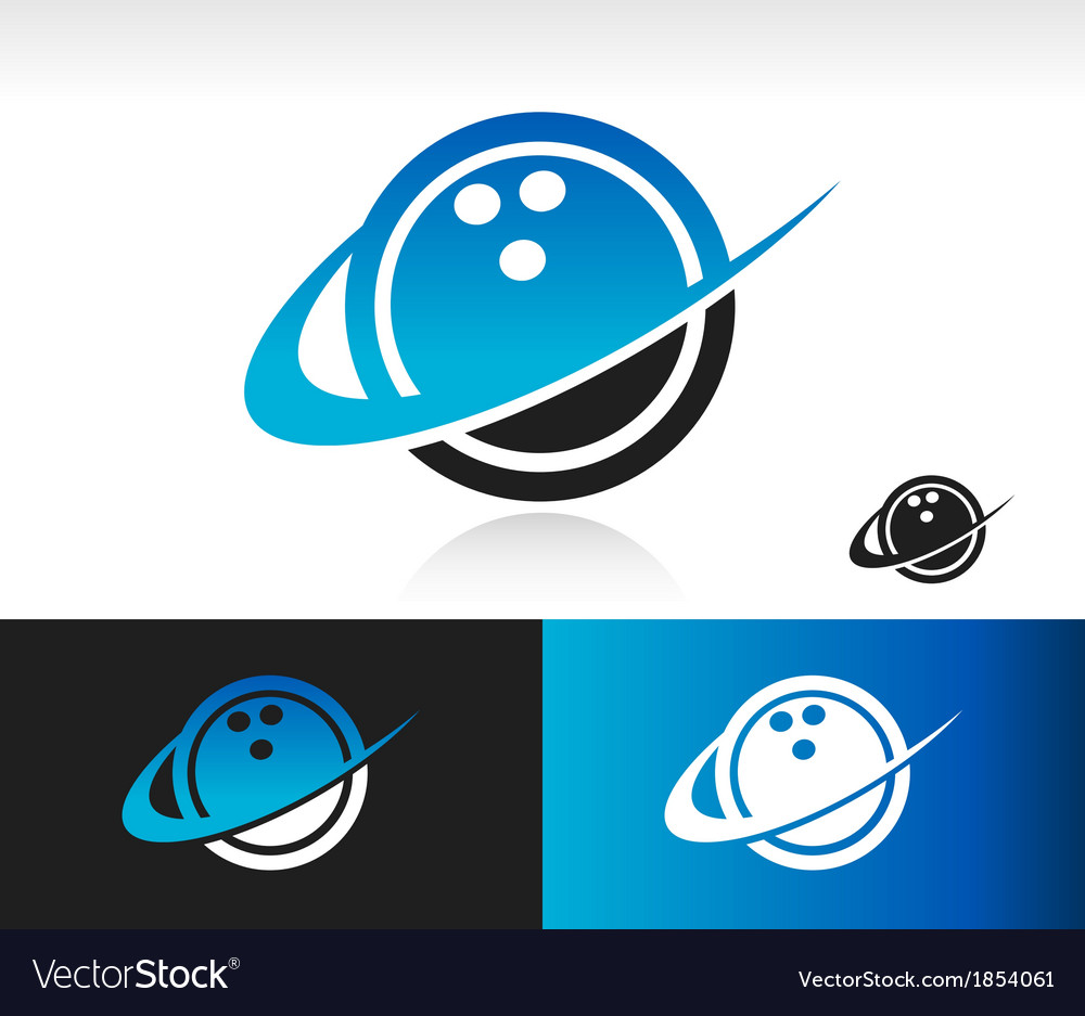 Swoosh bowling ball logo icon vector | Price: 1 Credit (USD $1)