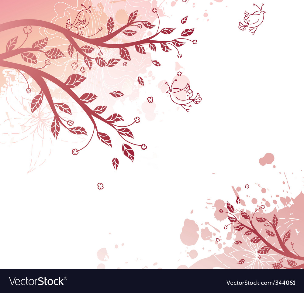 Tree back splash vector | Price: 1 Credit (USD $1)