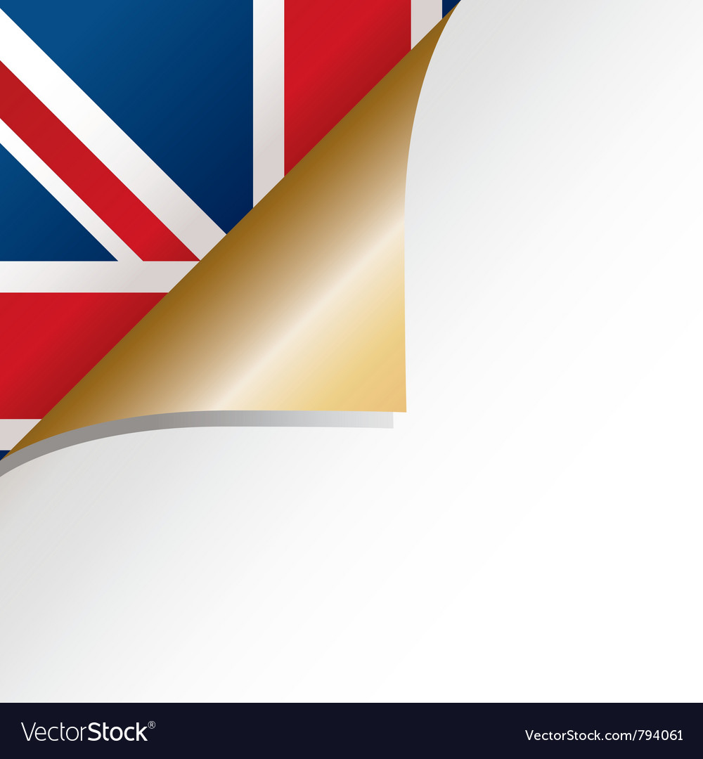 Uk page curl vector | Price: 1 Credit (USD $1)