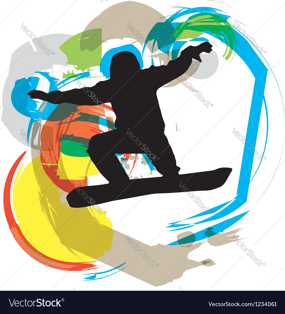Wake boarder in action vector | Price: 1 Credit (USD $1)