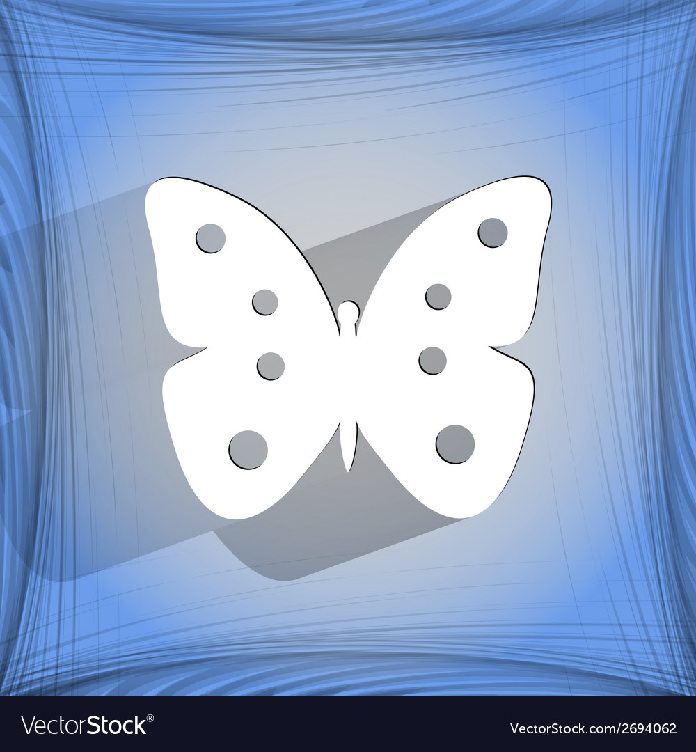 Butterfly flat modern web button on a flat vector   Price: 1 Credit (USD $1)