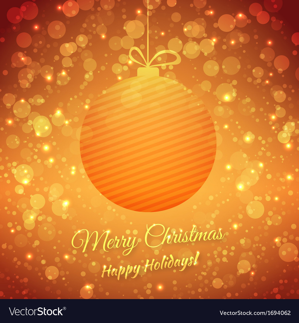 Christmas ball blurred festive background merry vector | Price: 1 Credit (USD $1)