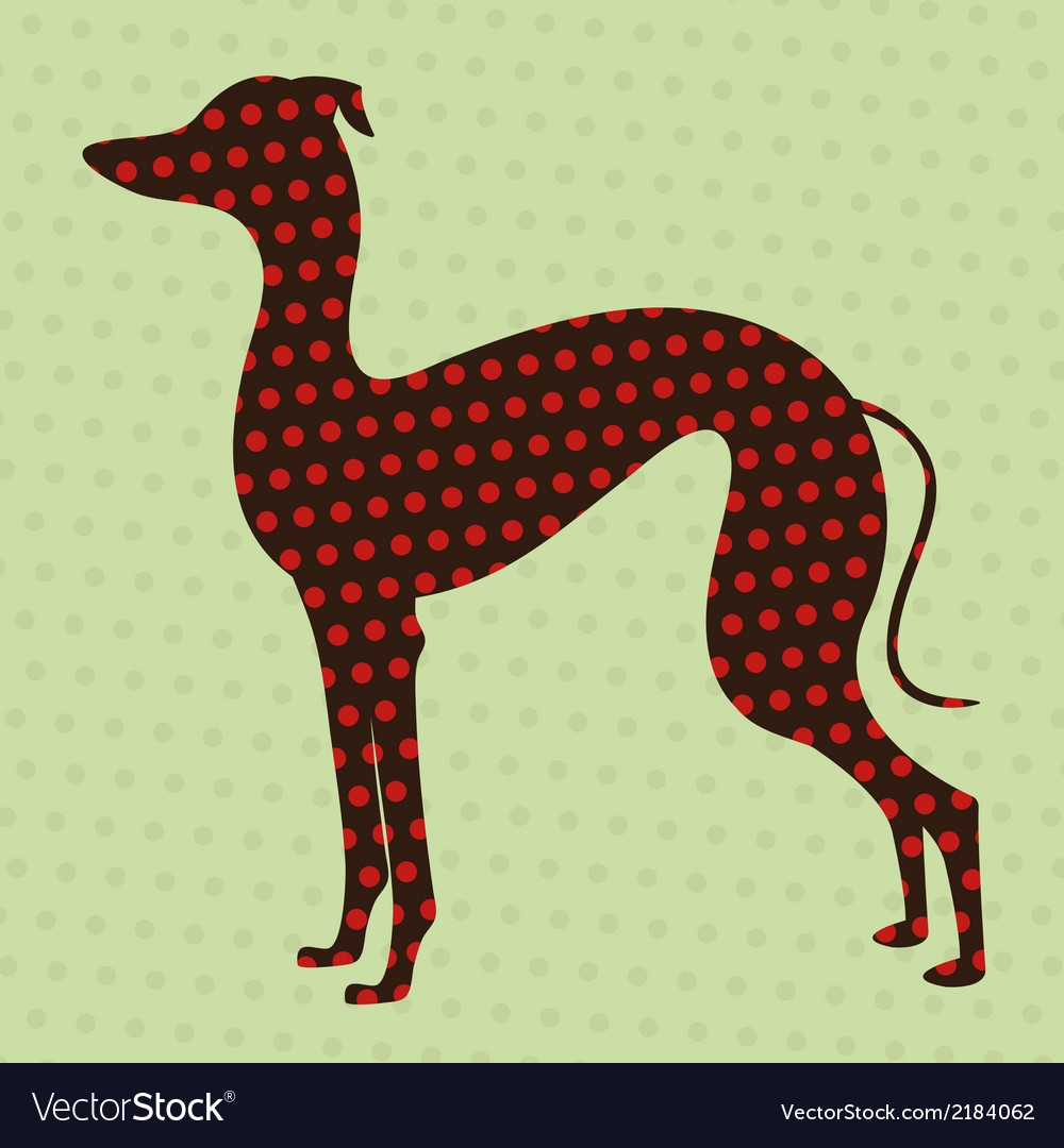 Dotted greyhound vector | Price: 1 Credit (USD $1)