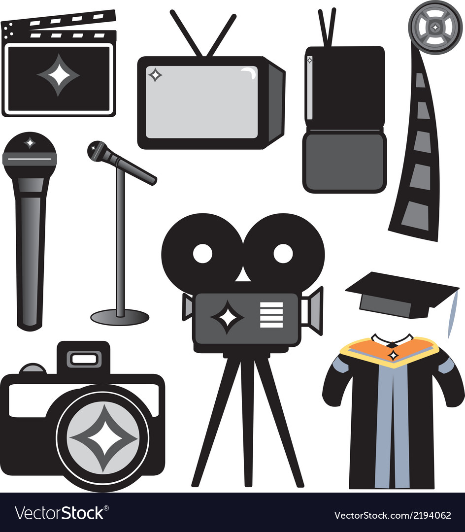 Film and photography school supplies vector | Price: 1 Credit (USD $1)