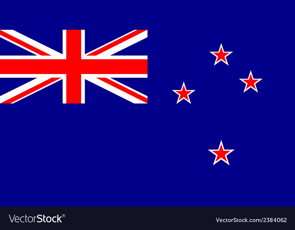 Flag of new zealand vector | Price: 1 Credit (USD $1)