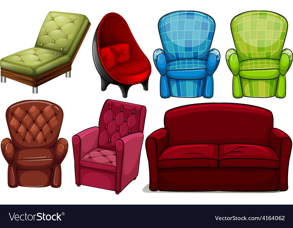 Group of chair furnitures vector | Price: 1 Credit (USD $1)