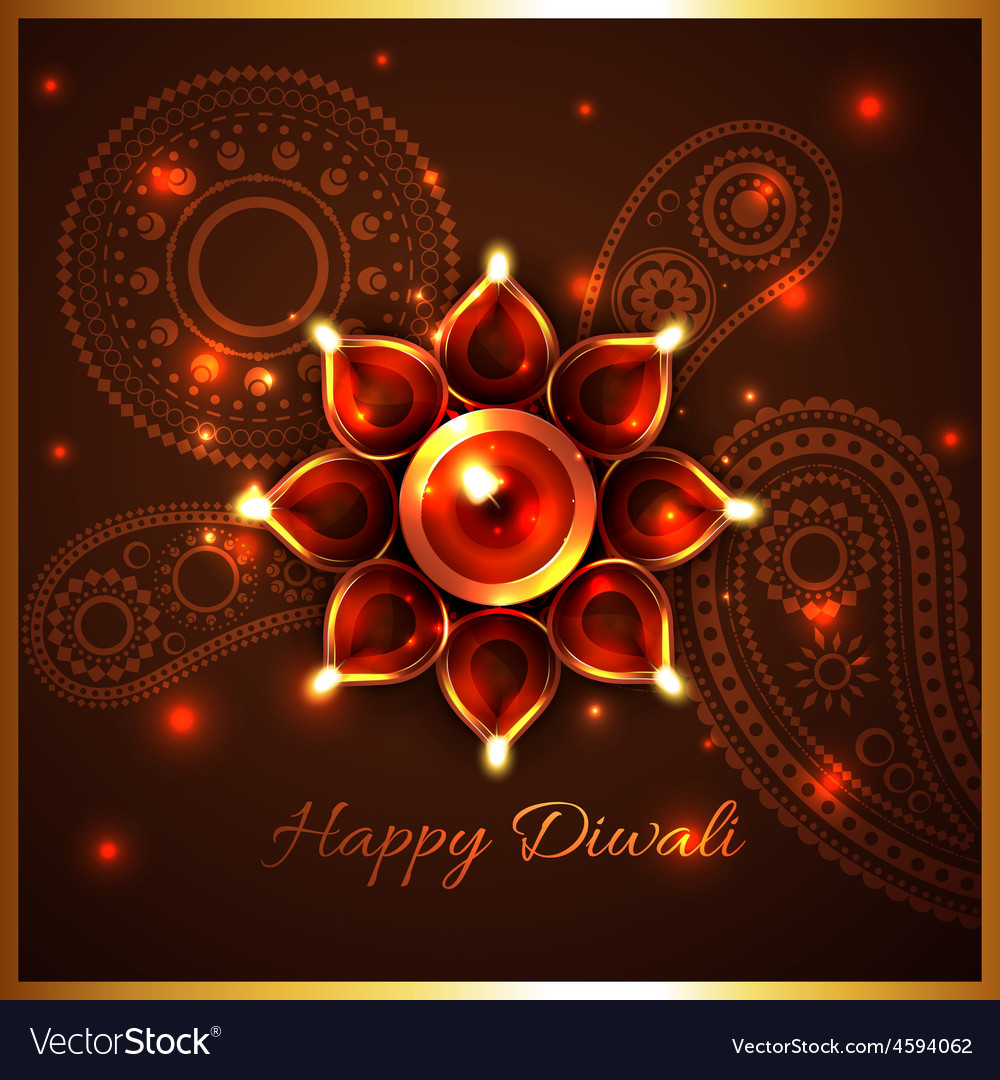 Hindu festival background of diwali vector | Price: 3 Credit (USD $3)