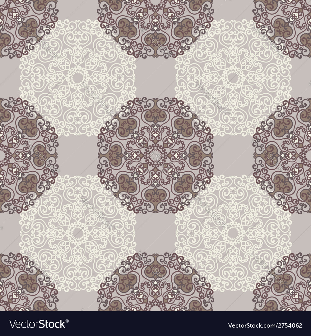 Seamless pattern with abstract elements vector | Price: 1 Credit (USD $1)