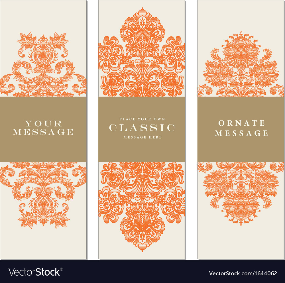 Victorian banner design vector | Price: 1 Credit (USD $1)