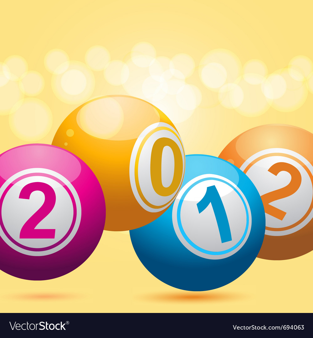 3d new year bingo balls vector | Price: 1 Credit (USD $1)