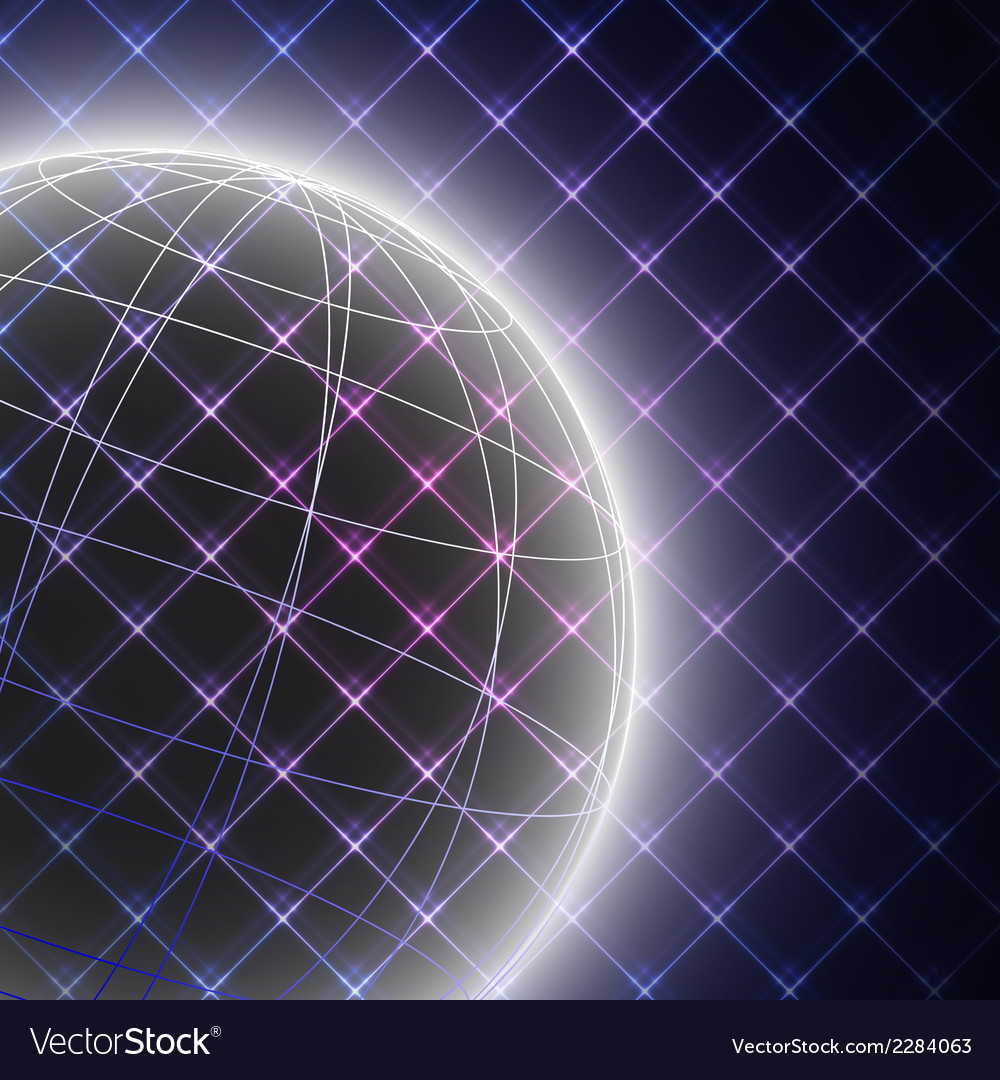 Abstract light globe on black background vector | Price: 1 Credit (USD $1)