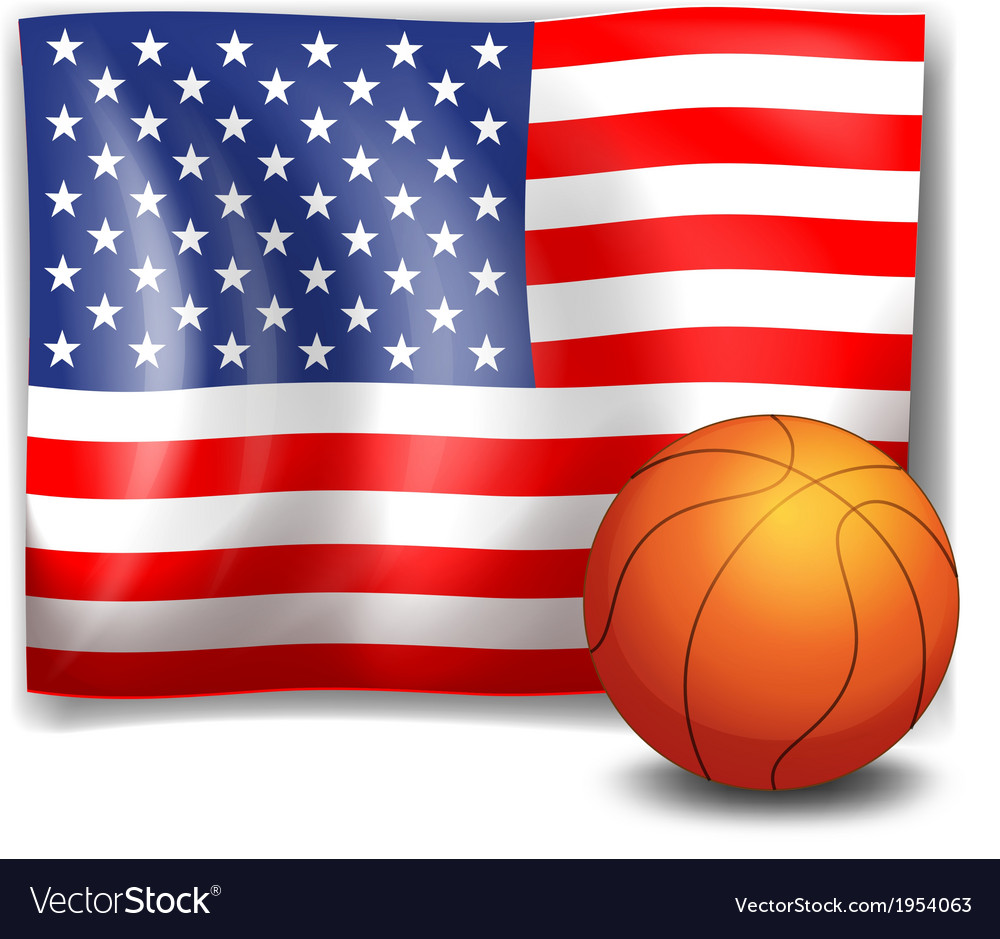 The american flag with a ball vector | Price: 1 Credit (USD $1)