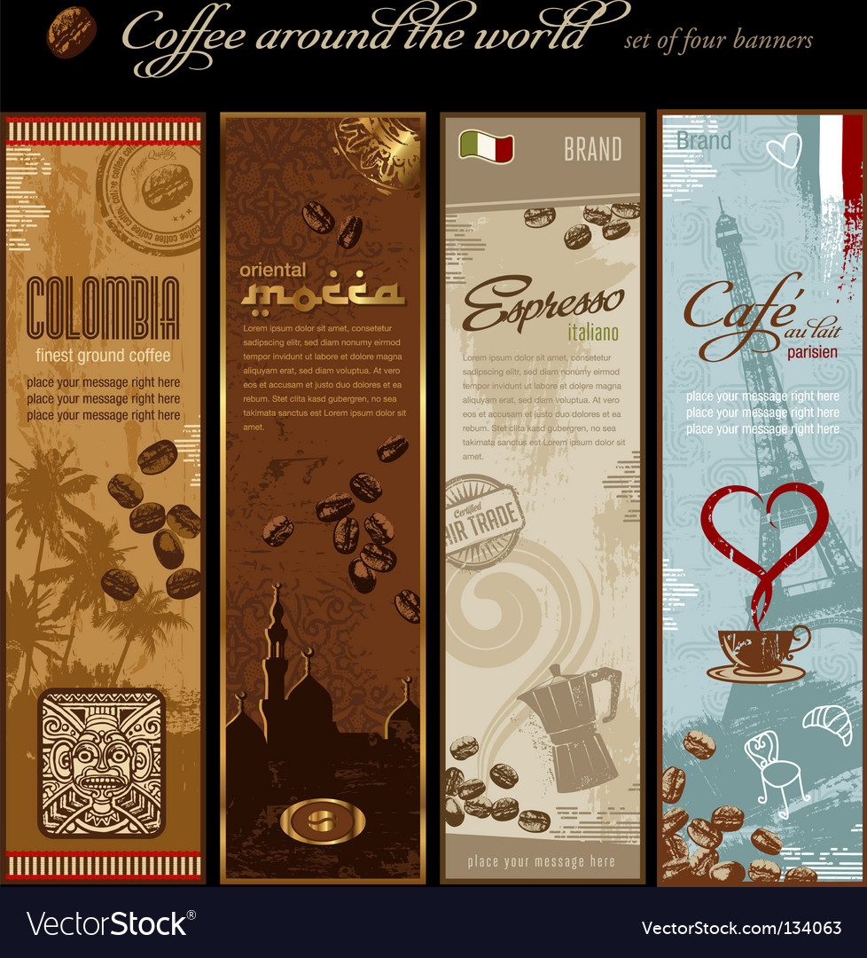 Coffee banners vector | Price: 3 Credit (USD $3)
