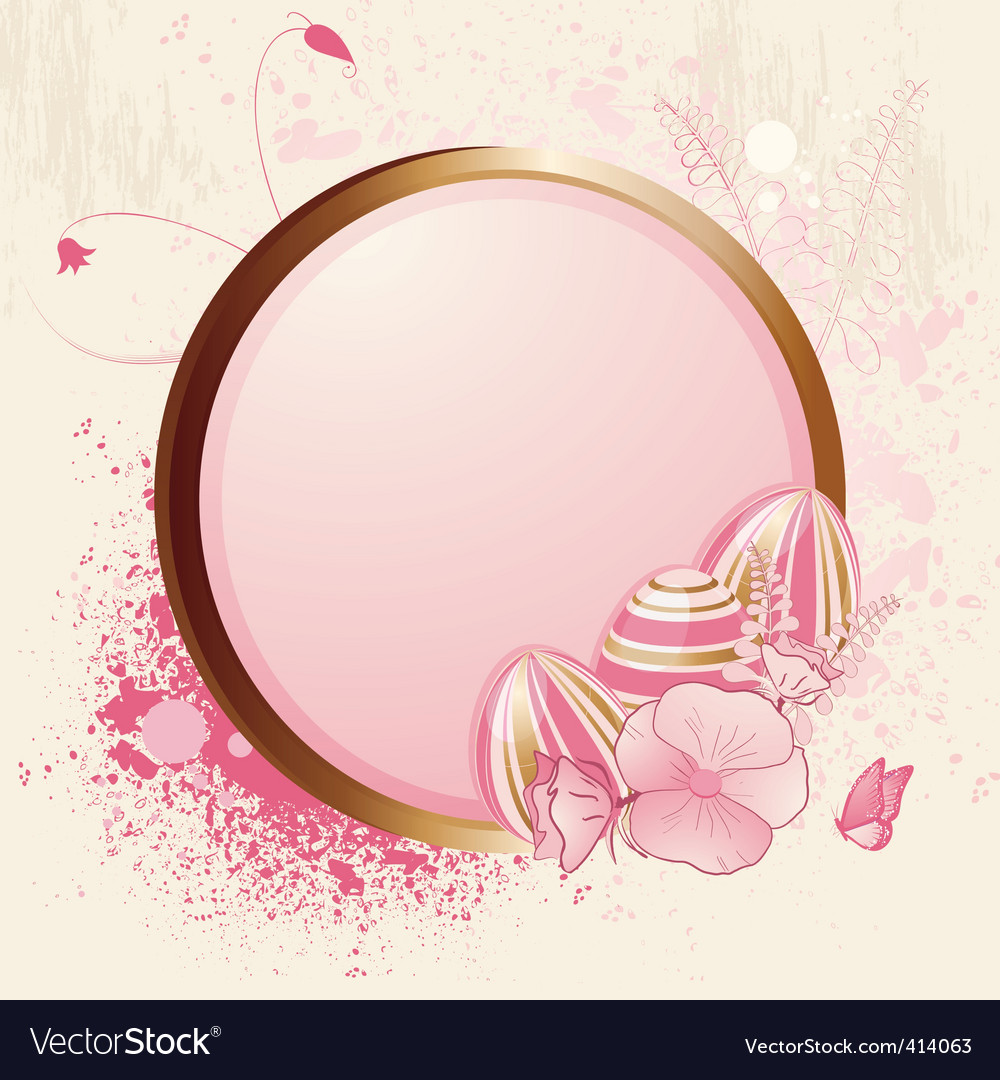 Floral easter egg and grunge vector | Price: 1 Credit (USD $1)