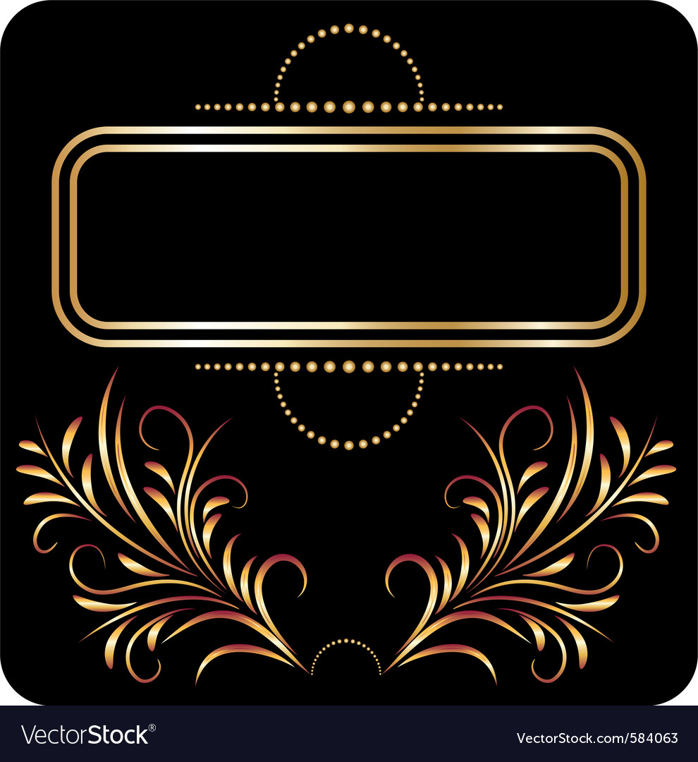 Golden ornament vector | Price: 1 Credit (USD $1)