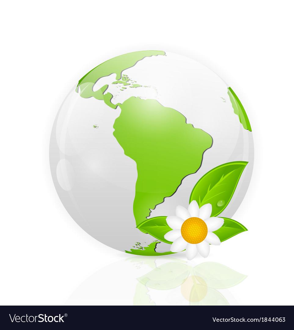 Green eco planet concept vector   Price: 1 Credit (USD $1)