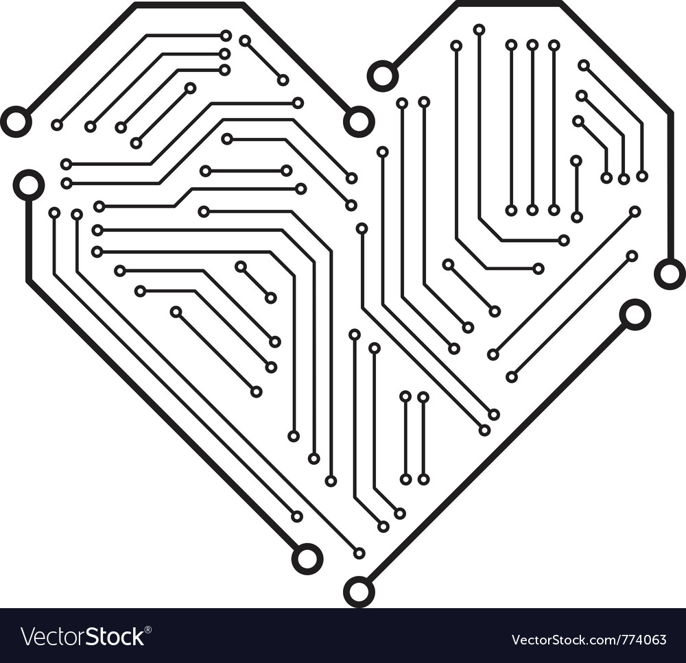 Heart motherboard vector | Price: 1 Credit (USD $1)