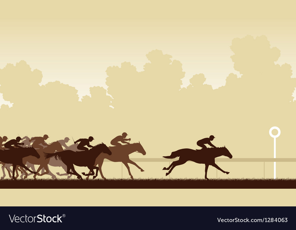 Horse race vector | Price: 1 Credit (USD $1)