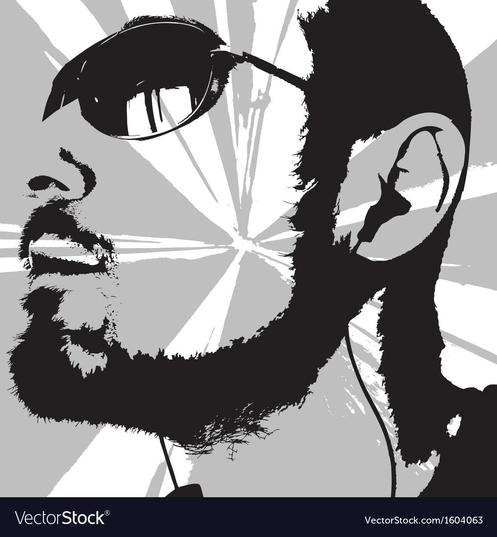 Man portrait vector | Price: 1 Credit (USD $1)