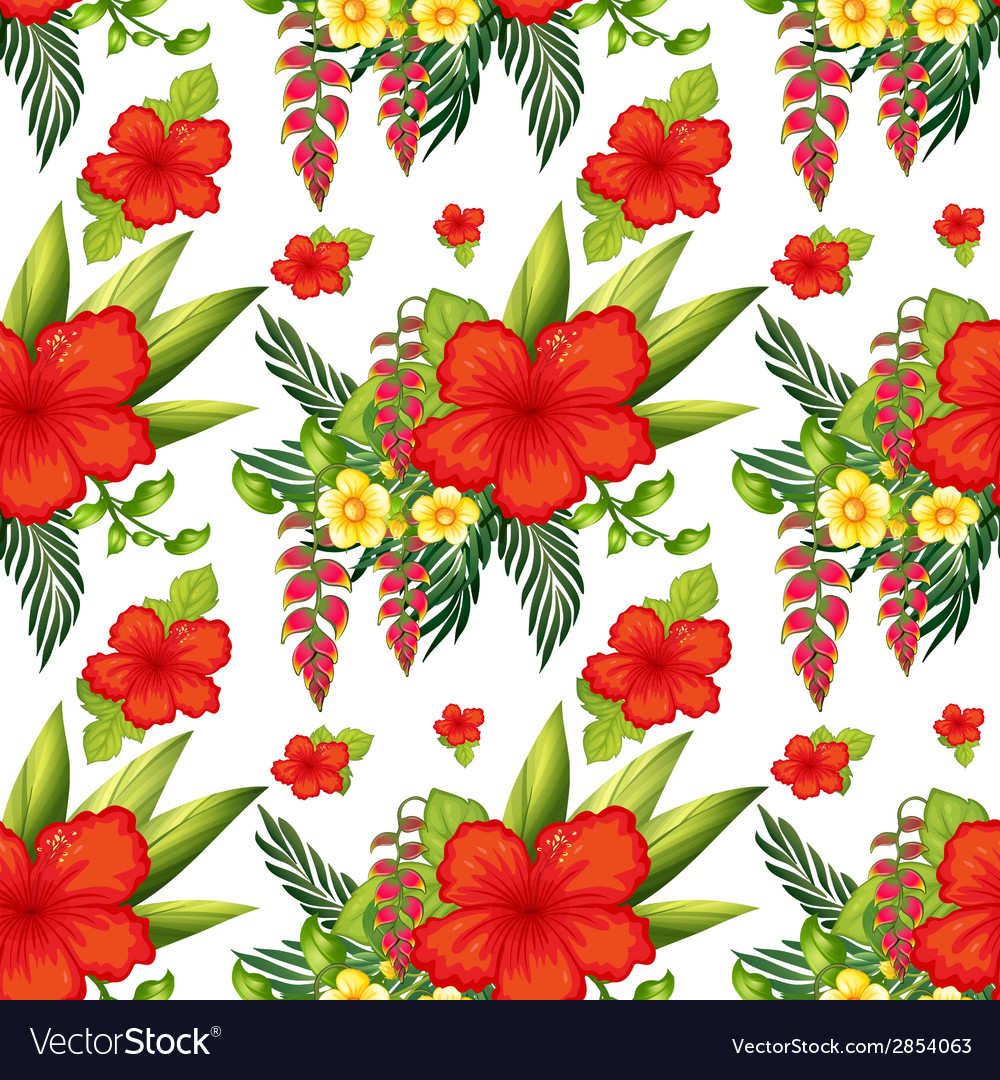 Seamless flowers vector | Price: 1 Credit (USD $1)