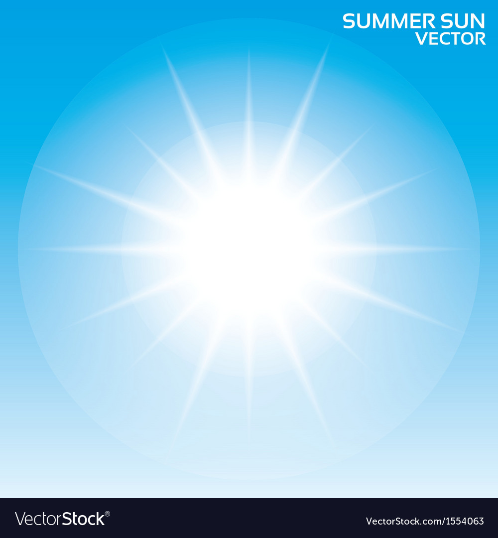 Summer sun background  sky vector | Price: 1 Credit (USD $1)