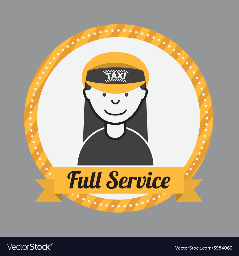 Taxi service vector | Price: 1 Credit (USD $1)