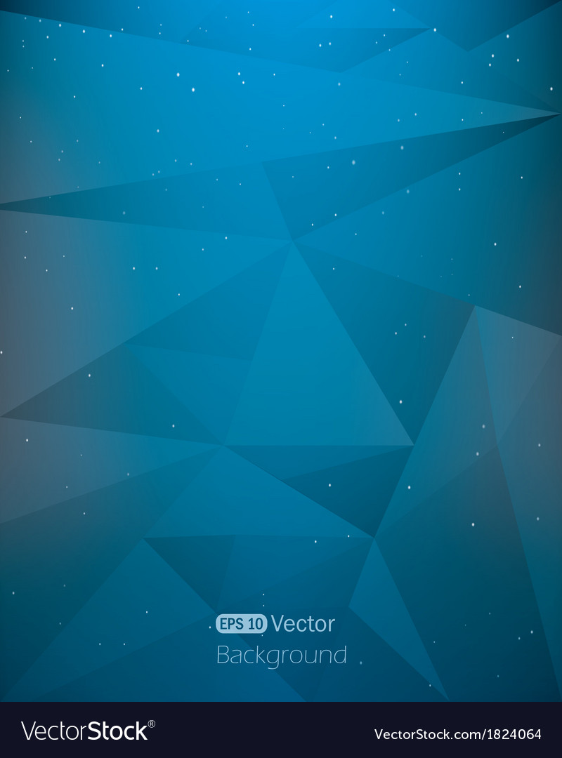 Abstract dark blue space geometrical background vector | Price: 1 Credit (USD $1)