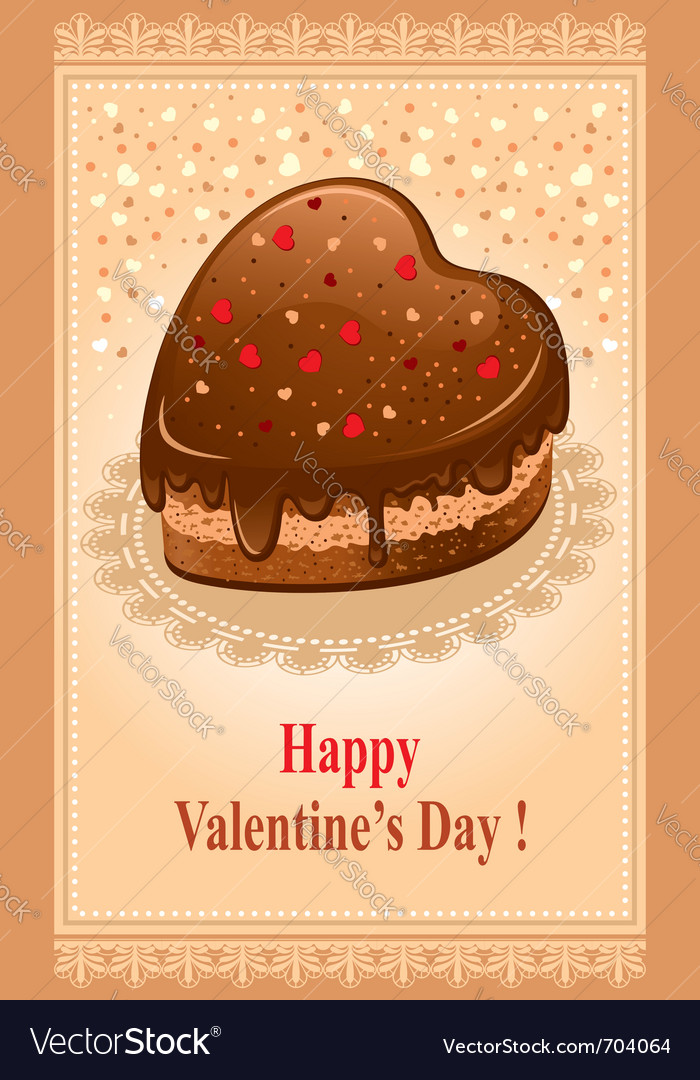Beautiful postcard on valentines day vector | Price: 3 Credit (USD $3)