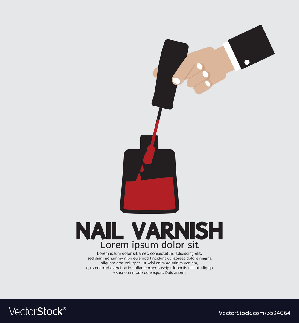 Nail varnish manicure apply vector