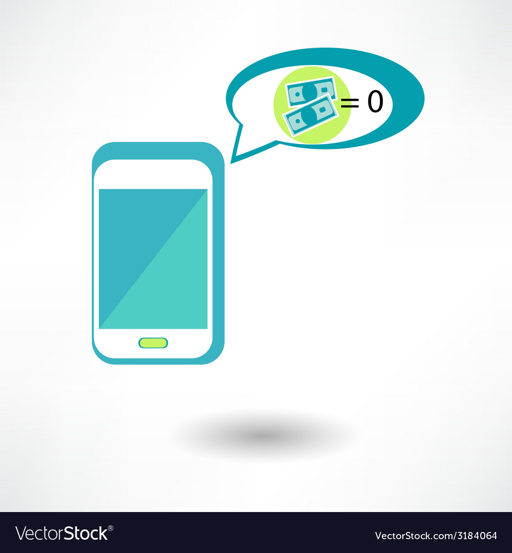 Phone and money on white background done in 3d vector | Price: 1 Credit (USD $1)