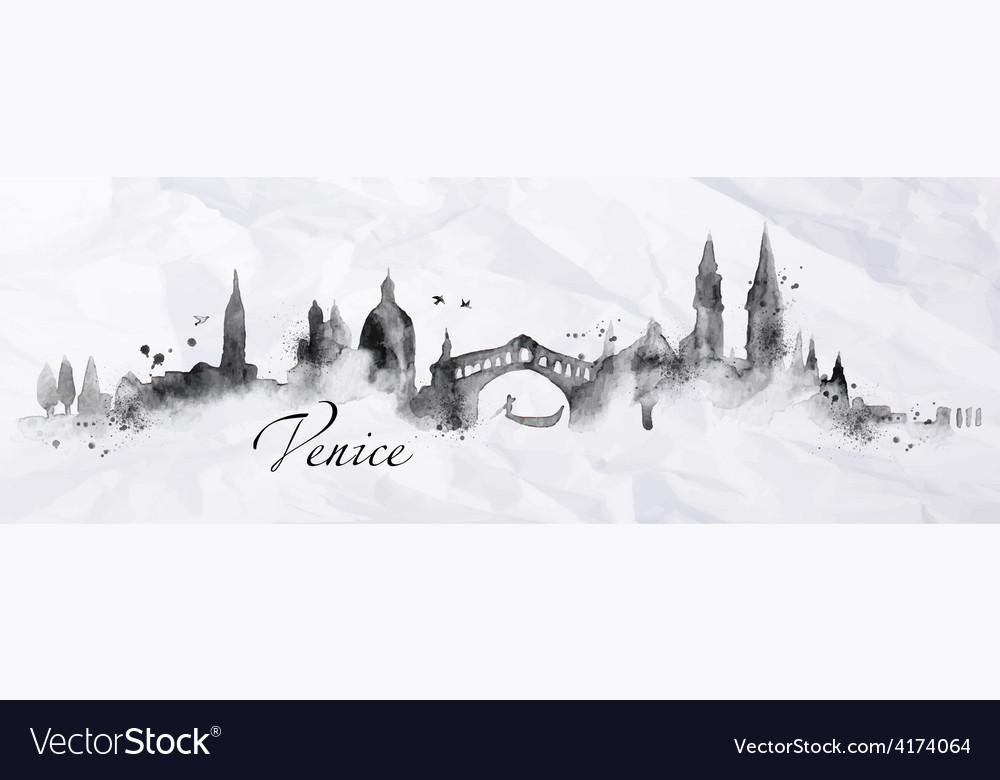 Silhouette ink venice vector   Price: 3 Credit (USD $3)