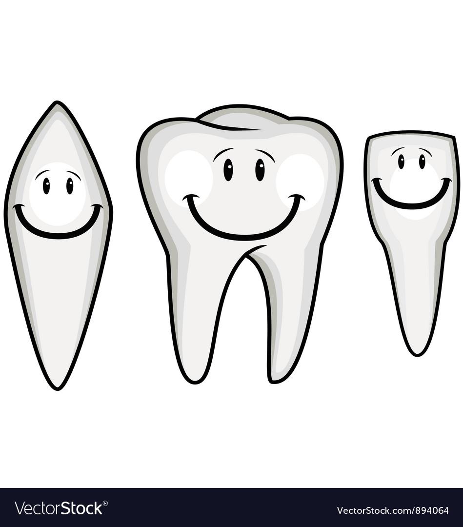 Tooth cartoon vector | Price: 3 Credit (USD $3)