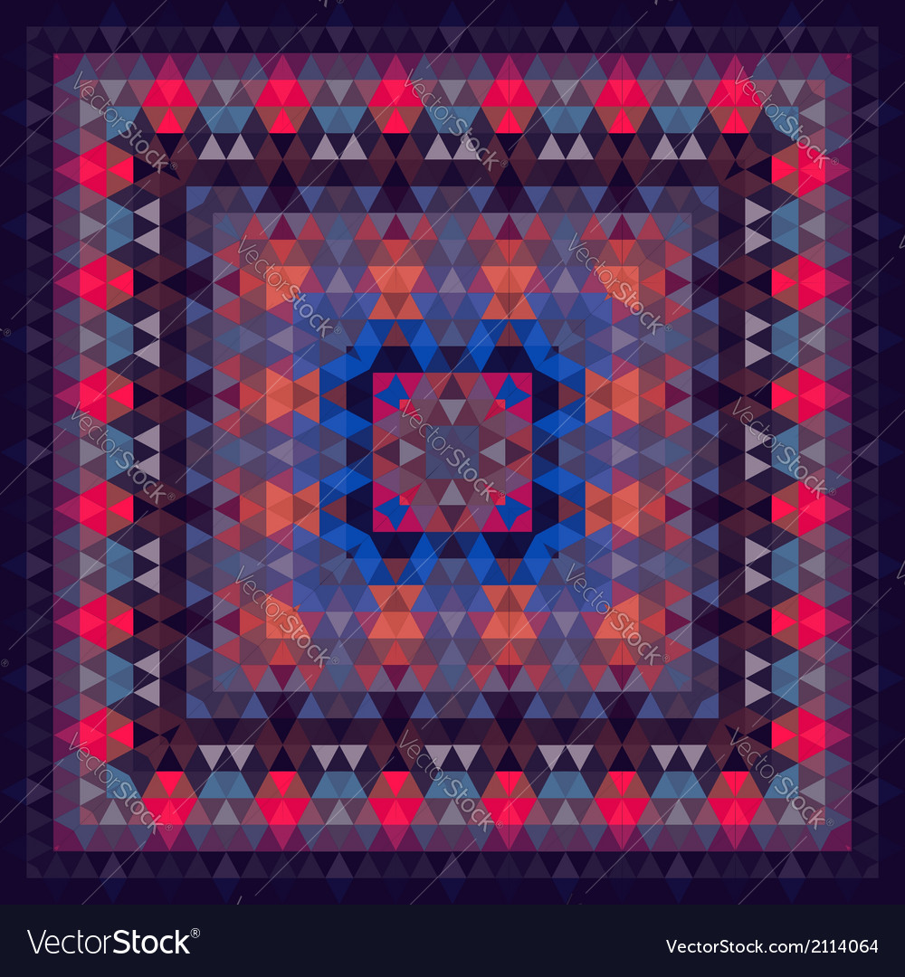 Triangle geometric abstract square pattern vector | Price: 1 Credit (USD $1)