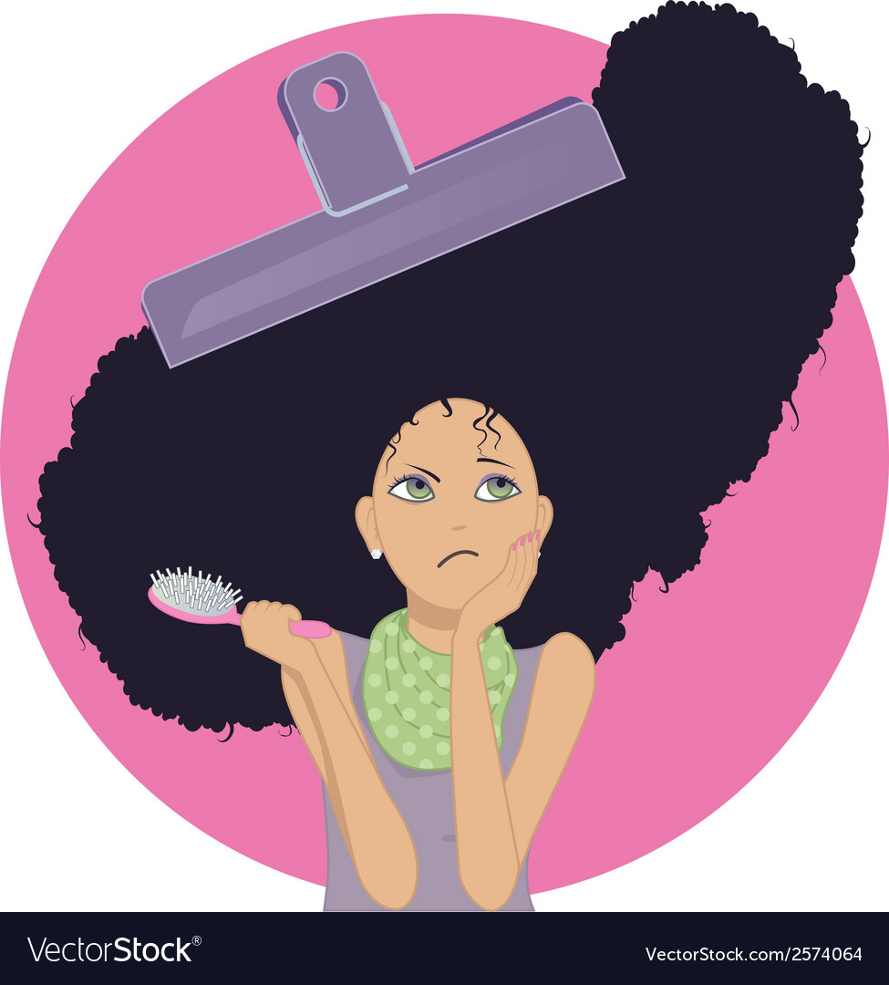 Unmanageable frizzy hair vector | Price: 1 Credit (USD $1)