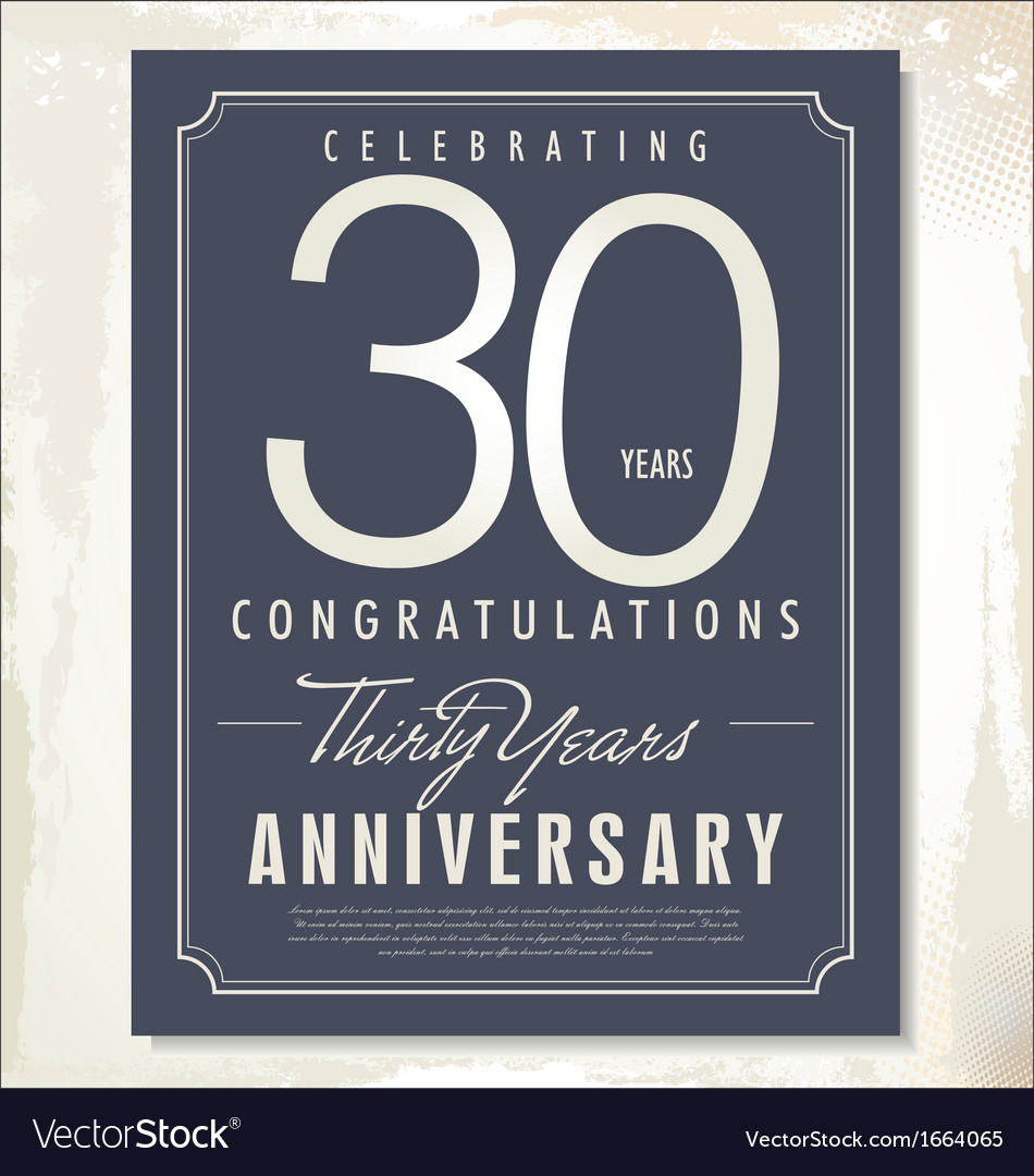 30 years anniversary background vector | Price: 1 Credit (USD $1)
