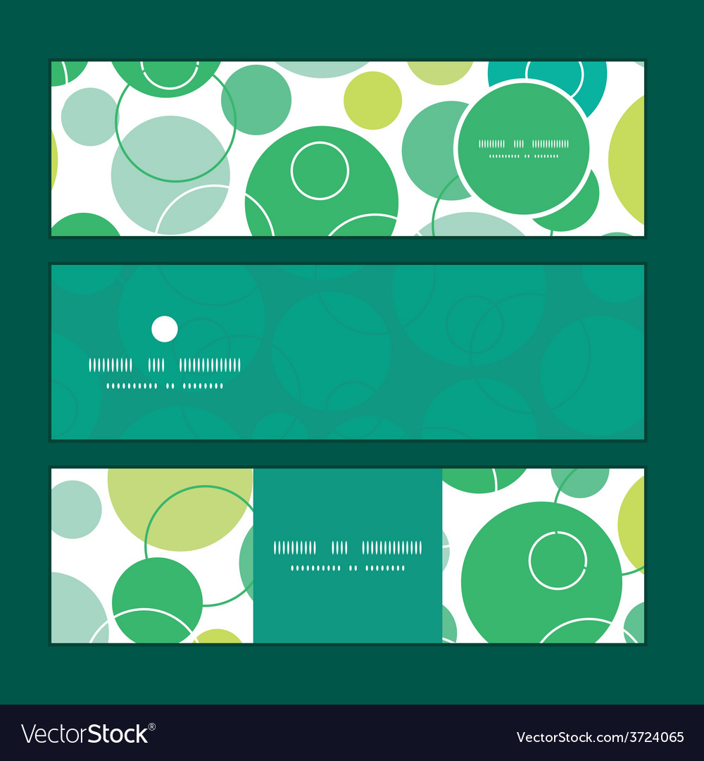 Abstract green circles horizontal banners vector | Price: 1 Credit (USD $1)