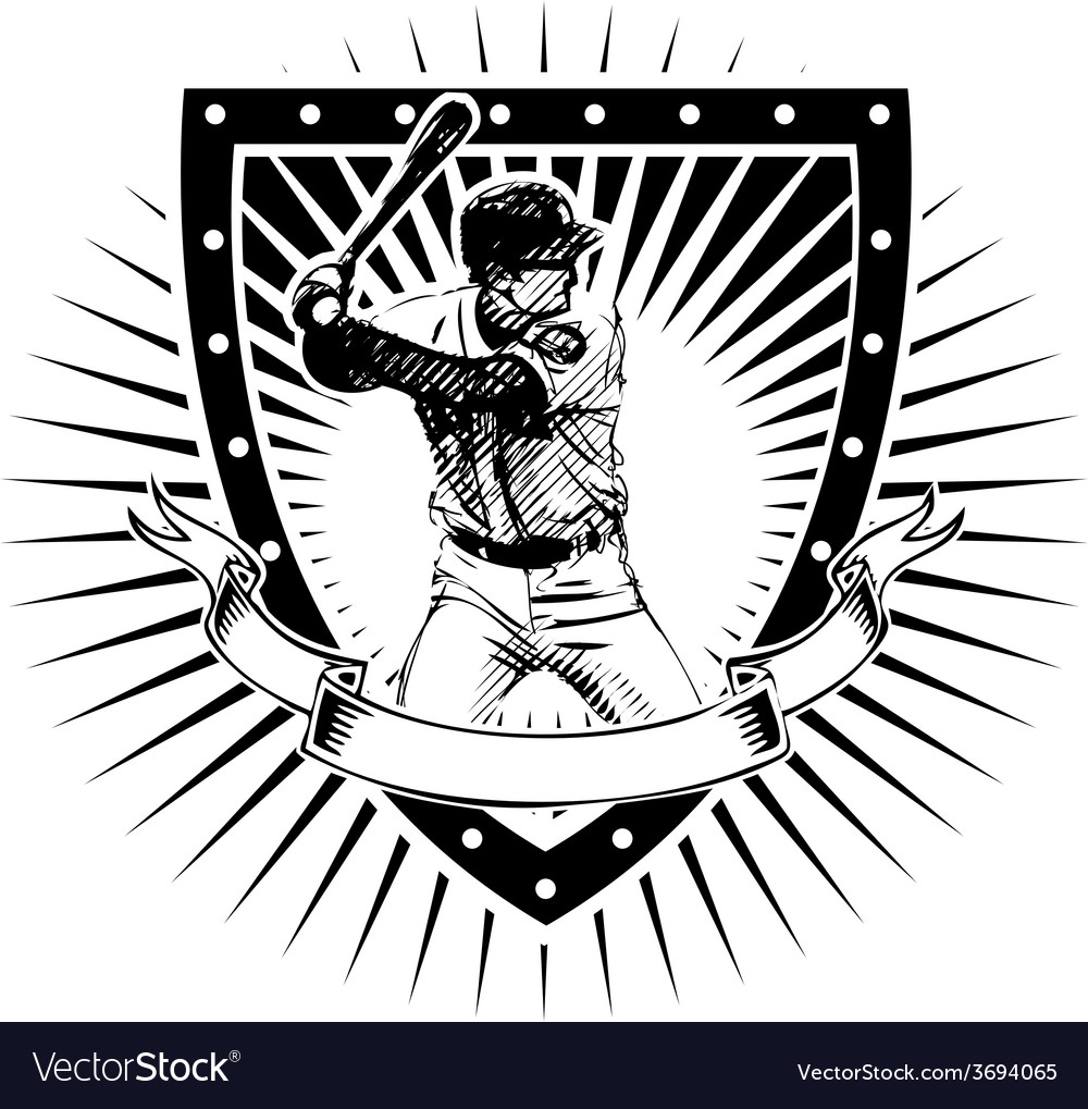 Baseball shield vector | Price: 3 Credit (USD $3)