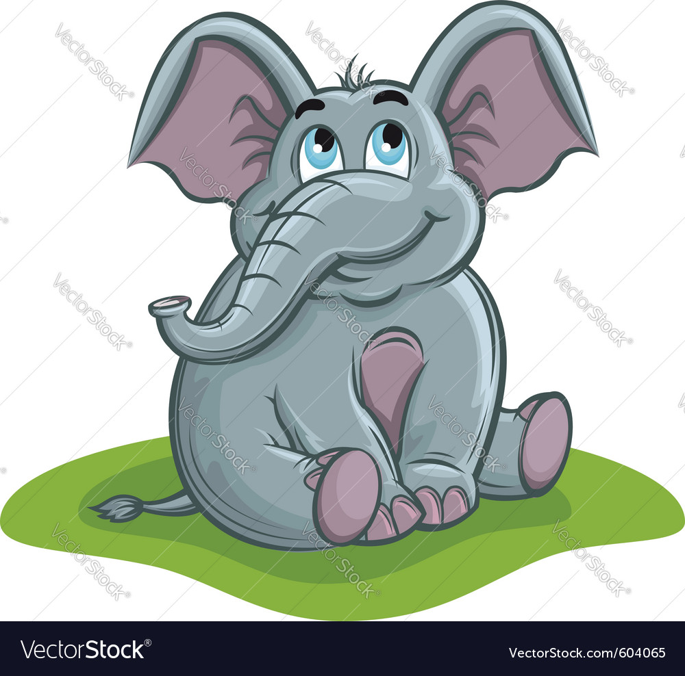 Cute elephant baby vector | Price: 3 Credit (USD $3)