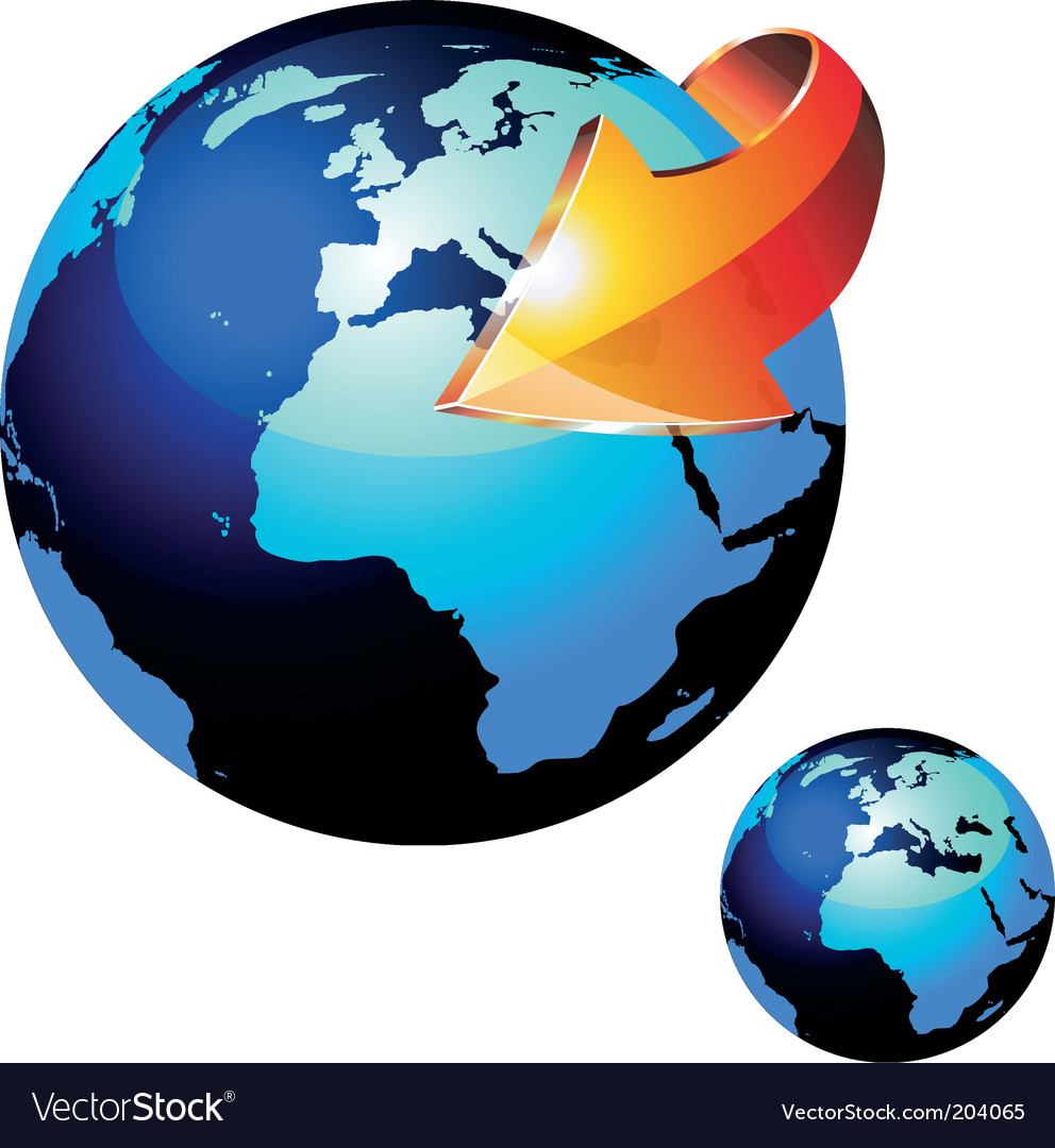 Earth sphere vector | Price: 3 Credit (USD $3)